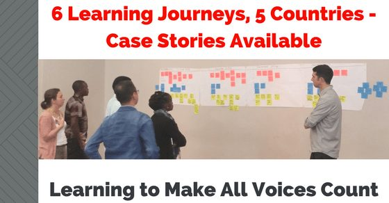 Learning to Make All Voices Count - Six Learning Journeys from Five