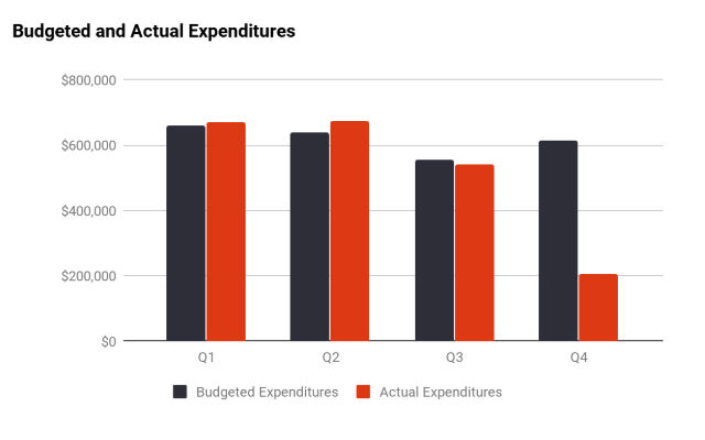 Budgeted and actual expenditure