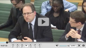 John Heathershaw giving evidence before Parliament Foreign Affairs Committee