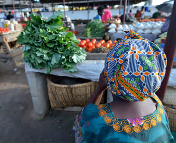 woman in African market