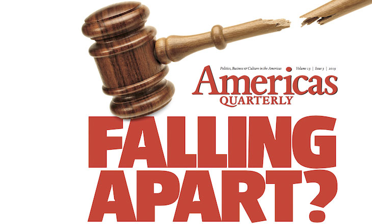 Falling Apart masthead from Americas Quarterly