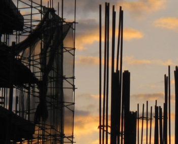building in progress against sky