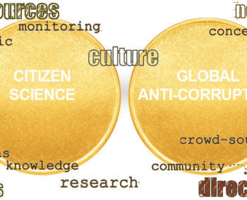 citizen science and global anti-corruption on two coins with related words around