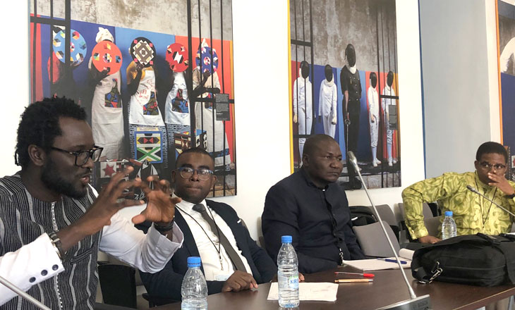 members of Central African Coalition Against Kleptocracy engaged in discussion